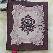 блокнот - книга для записей из натуральной толстой кожи ручной работы