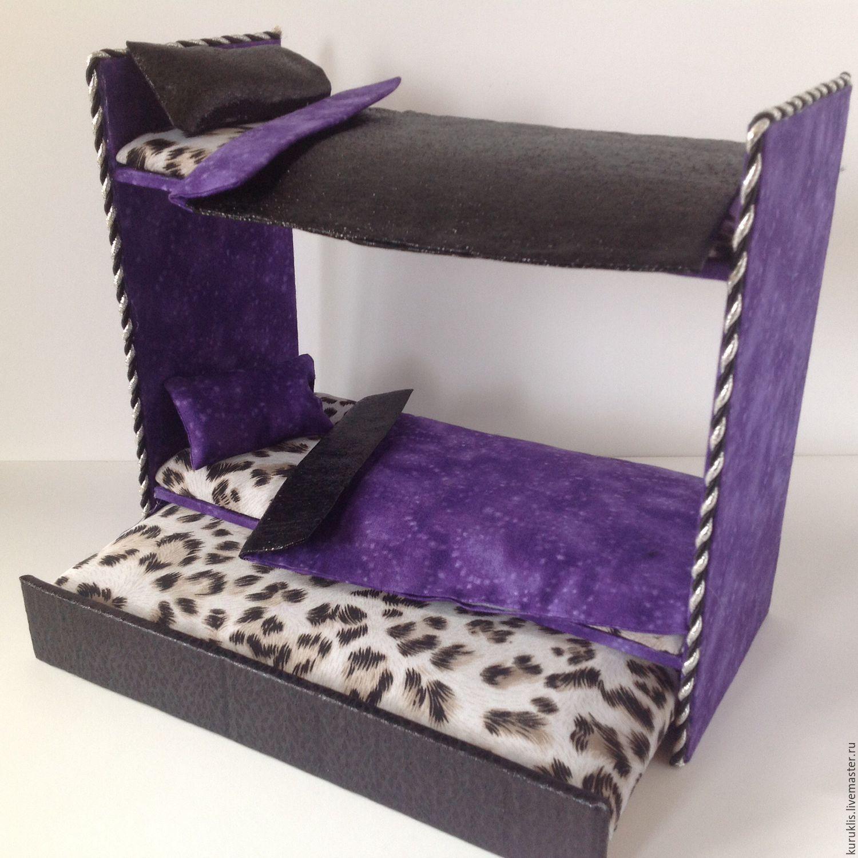 Как сделать двухэтажную кровать для кукол из картона