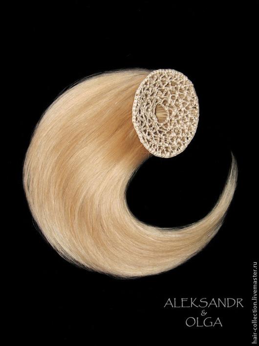 БАБЕТТОЙ classik  на заколках - постиж, светлый блонд (из натуральных волос)