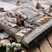 Канцелярские товары handmade. Livemaster - original item Book culinary c delimiters vintage beige flowers lace. Handmade.