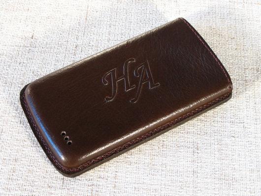 Для телефонов ручной работы. Ярмарка Мастеров - ручная работа. Купить Чехол для мобильного телефона Lenovo A516. Handmade. Кожа