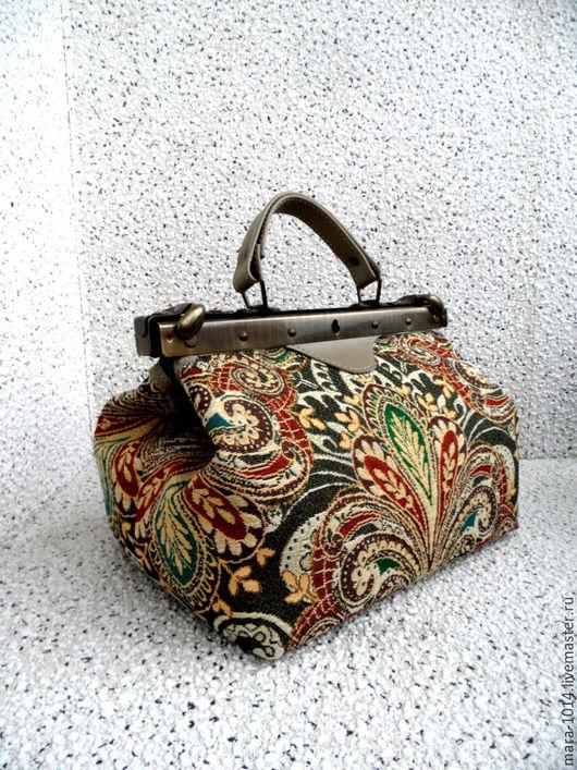 Женские сумки ручной работы. Ярмарка Мастеров - ручная работа. Купить ВОСТОК -дело тонкое, саквояж 30 см из кожи и гобелена. Handmade.
