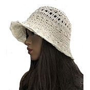 Аксессуары handmade. Livemaster - original item Women`s hat Milentia beige. Handmade.