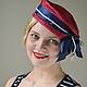 Шляпы ручной работы. Ярмарка Мастеров - ручная работа. Купить Морская коллекция. Шляпа №2. Handmade. Ярко-красный