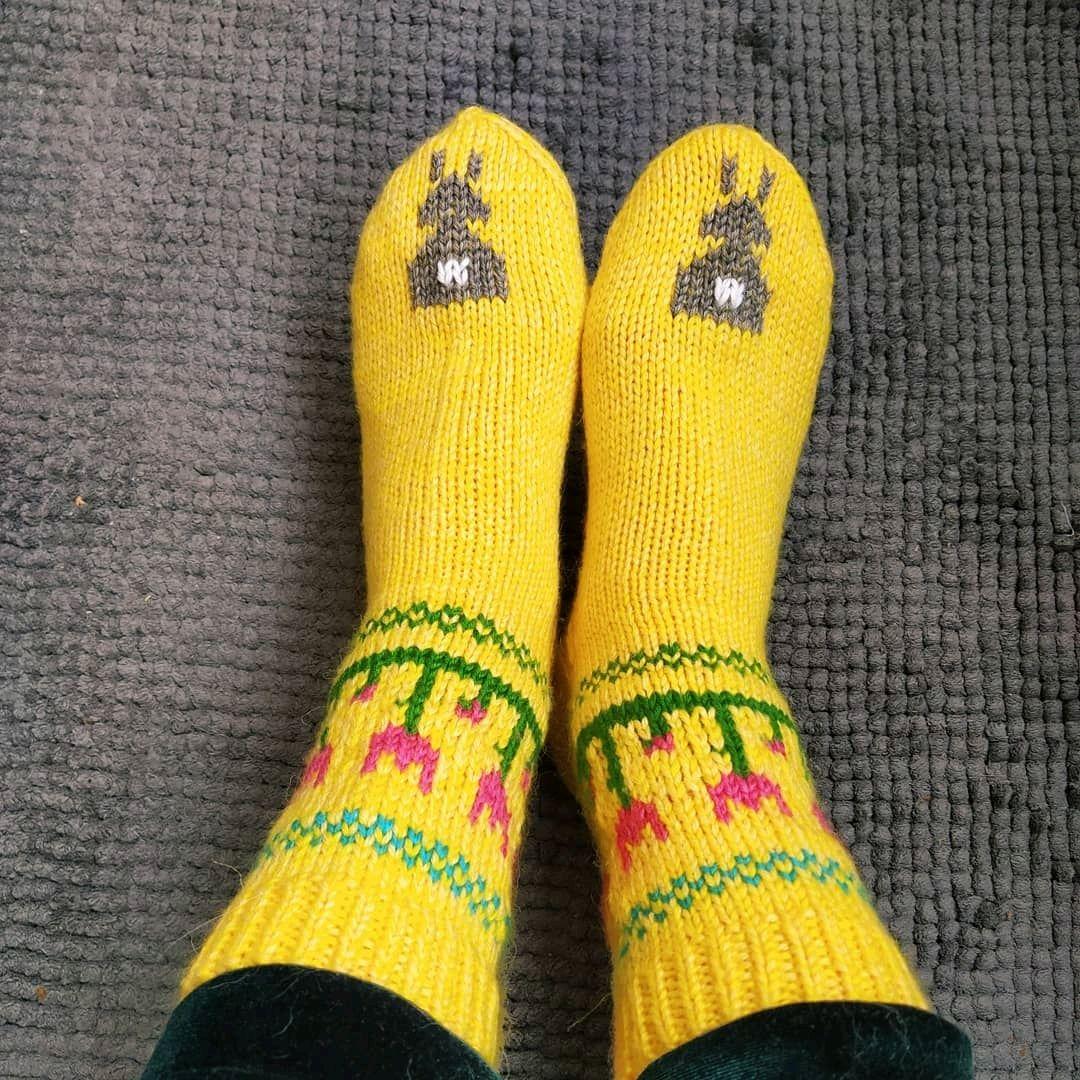 Желтые вязаные носки носочки весенние с кроликом пасхальный подарок, Носки, Москва,  Фото №1