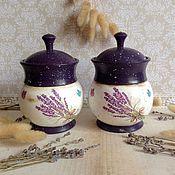 Для дома и интерьера ручной работы. Ярмарка Мастеров - ручная работа Лавандовые букетики - набор деревянных горшочков для кухни. Handmade.