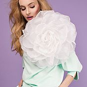 Цветы и флористика handmade. Livemaster - original item FABRIC FLOWERS. Chiffon rose