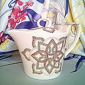 """Посуда ручной работы. Ярмарка Мастеров - ручная работа Заварочный чайник фарфоровый """"Осень"""" Чайная посуда. Handmade."""