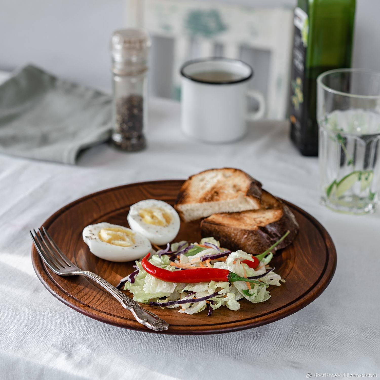 Flat plate made of Cedar from the 'Aristocrat' series 275 mm. T143, Dinnerware Sets, Novokuznetsk,  Фото №1