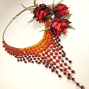 Украшения handmade. Livemaster - original item Coral Cyclone. Necklace, brooch. Handmade.