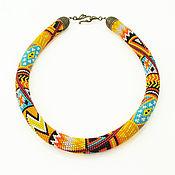 Украшения handmade. Livemaster - original item Harness with Japanese beads Hot summer. Handmade.
