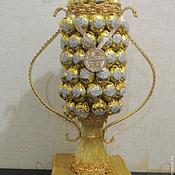 Цветы и флористика ручной работы. Ярмарка Мастеров - ручная работа Кубок из конфет. Handmade.