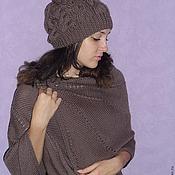 Аксессуары ручной работы. Ярмарка Мастеров - ручная работа шапка+шаль. Handmade.