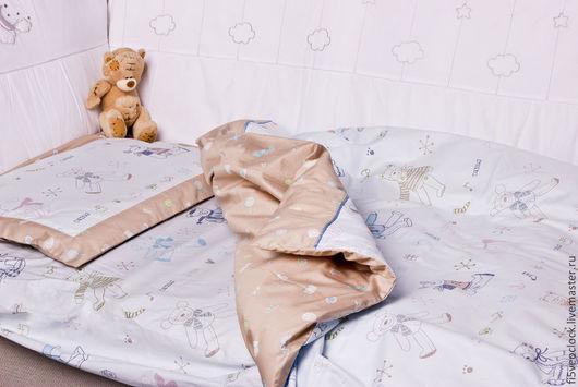 Детская ручной работы. Ярмарка Мастеров - ручная работа. Купить Комплект детского постельного белья Мой сыночек. Handmade. Голубой