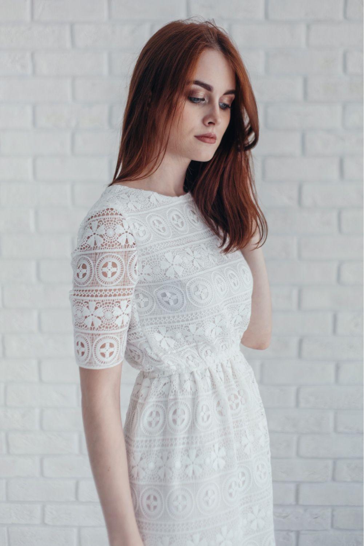 Белые платья хлопок кружево