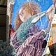 Репродукции ручной работы. Ярмарка Мастеров - ручная работа. Купить Панно-фреска из дерева 40х50_Ватикан_Ангел 3 W0274. Handmade. Ангел