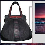 Сумки и аксессуары ручной работы. Ярмарка Мастеров - ручная работа Женская сумка Dark Ocean-Тёмный океан. Handmade.