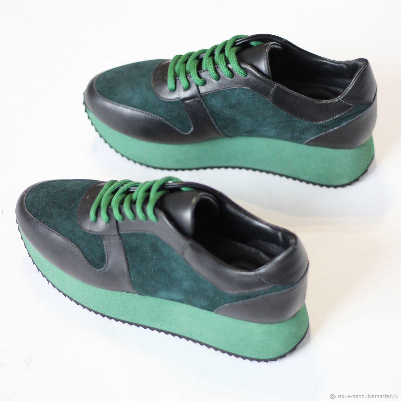 Обувь ручной работы. Ярмарка Мастеров - ручная работа. Купить Кроссы. Handmade. Спортивный стиль, кроссовки, стильная обувь