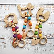 Работы для детей, handmade. Livemaster - original item Mini teething toy (teether). Handmade.