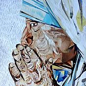 Картины и панно handmade. Livemaster - original item Painting in the technique of collage Mother Teresa. Handmade.