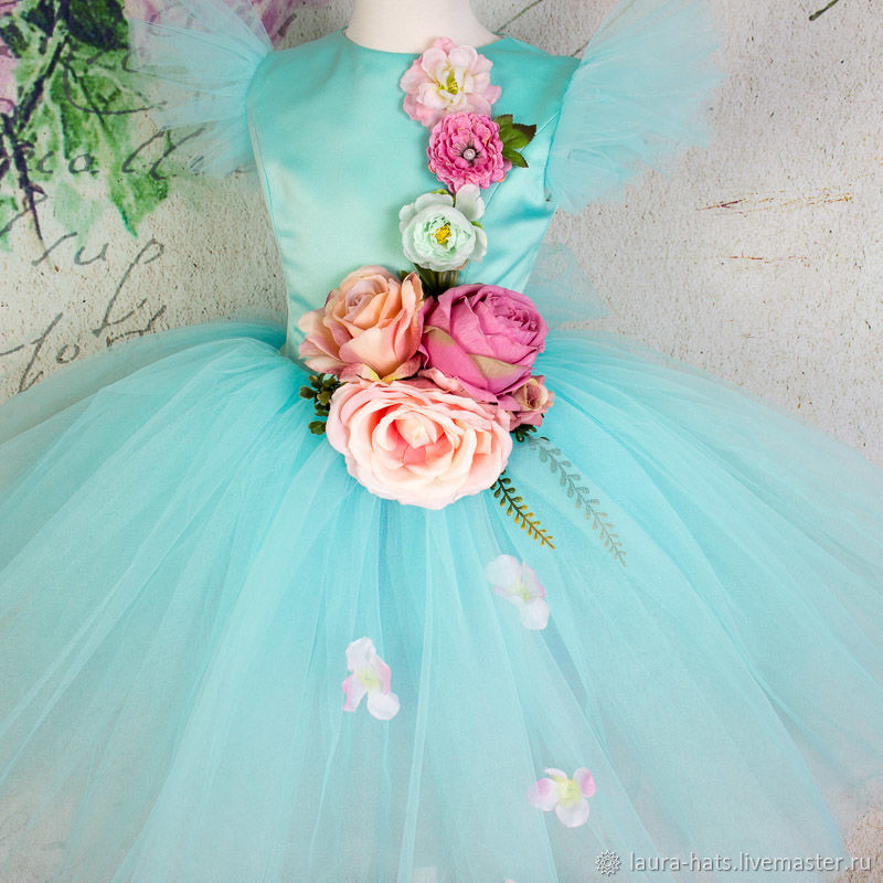 Нарядное платье для девочки Пышное детское платье на выпускной