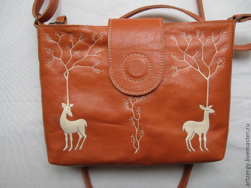 bag leather 'the Deer', Classic Bag, Moscow,  Фото №1