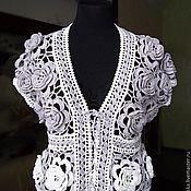 Одежда ручной работы. Ярмарка Мастеров - ручная работа Болеро Розы  в серебре. Handmade.