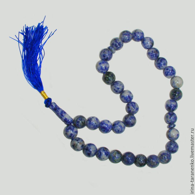 Heavenly rosary of lapis lazuli
