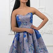 Одежда ручной работы. Ярмарка Мастеров - ручная работа коклейльное платье  электрик. Handmade.