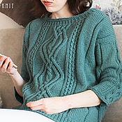 Одежда handmade. Livemaster - original item Women`s knitted sweater Navy blue. Handmade.