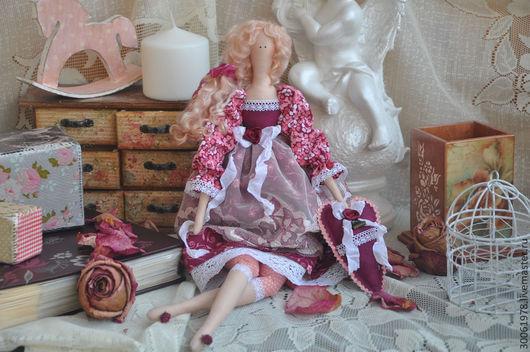 """Куклы Тильды ручной работы. Ярмарка Мастеров - ручная работа. Купить Кукла в стиле Тильда """"Бордовый шик"""". Handmade. Бордовый"""