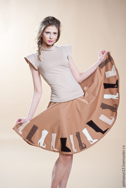 """Юбки ручной работы. Ярмарка Мастеров - ручная работа. Купить Юбка """"Сказка"""". Handmade. Бежевый, юбка, необычная юбка, стеклярус"""