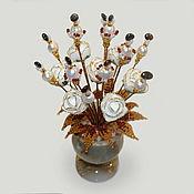 Цветы и флористика handmade. Livemaster - original item Flowers of pearls and pomegranate