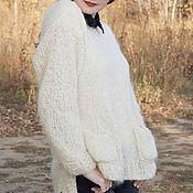 Одежда ручной работы. Ярмарка Мастеров - ручная работа Пуловер оверсайз Облако. Handmade.