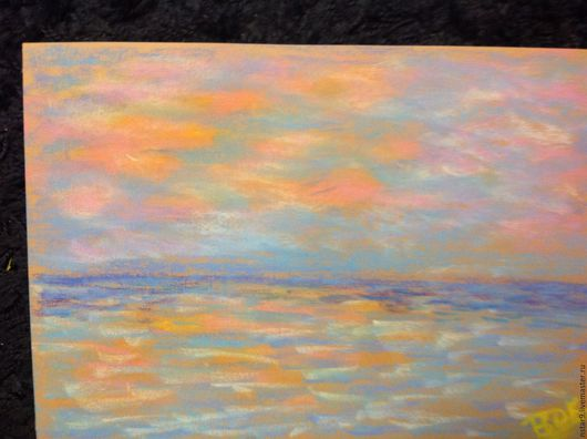 Абстракция ручной работы. Ярмарка Мастеров - ручная работа. Купить Оранжевый закат на Родосе.. Handmade. Оранжевый, пейзаж в подарок