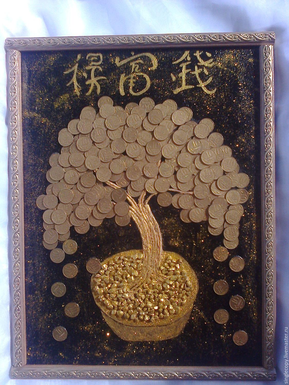 Как сделать панно денежного дерева 486