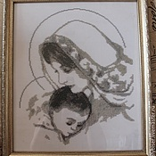 Картины и панно ручной работы. Ярмарка Мастеров - ручная работа Дева Мария с Младенцем. Handmade.