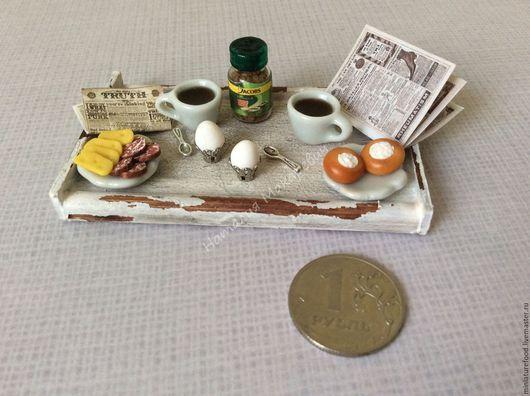 Фото кукольной еды, завтрак в ангийском стиле