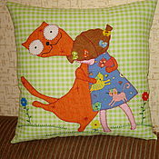 """Подушки ручной работы. Ярмарка Мастеров - ручная работа Подушка из ткани """"Я тебя люблю!"""". Handmade."""