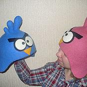 """Для дома и интерьера ручной работы. Ярмарка Мастеров - ручная работа Войлочная шапка """"Angry Birds - пара птичек"""". Handmade."""