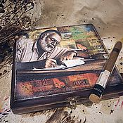 Для дома и интерьера handmade. Livemaster - original item Hemingway-2, cigar box. Handmade.