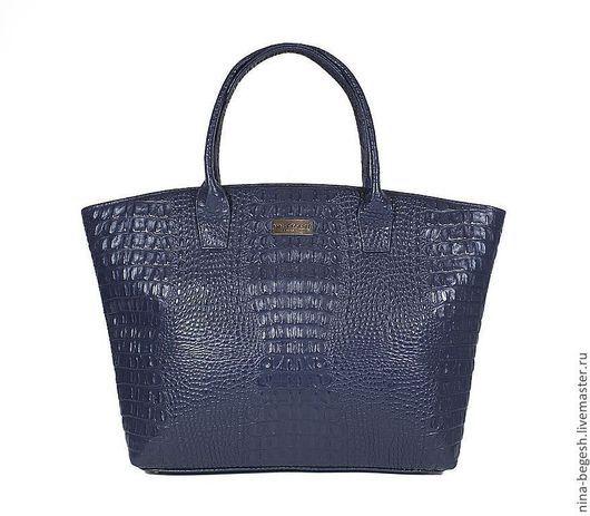 """Женские сумки ручной работы. Ярмарка Мастеров - ручная работа. Купить Сумка кожаная """"Шарман"""", синяя сумка, кожаная сумка. Handmade."""