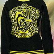 """Одежда ручной работы. Ярмарка Мастеров - ручная работа Тату-свитер - Факультет """"Hufflepuff""""(по мотивам к/ф о Гарри Поттере). Handmade."""