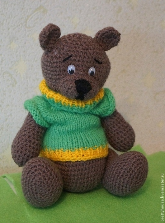 медведь, медвежонок, мишка, вязаная игрушка, мишка вязаный, медведь вязаный, вязаные игрушки, игрушки в подарок, игрушки, амигуруми, мишка амигуруми, медведь амигуруми