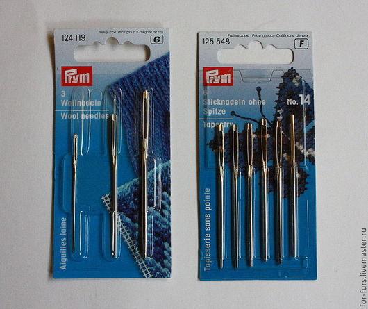 Универсальные иглы PRYM  для вязки мехом, производство Германия.В упаковке 3шт; 6шт.Цена-150 руб.