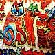 """Женские сумки ручной работы. Сумочка """"Огненные коты"""". Анна Мисевич. Интернет-магазин Ярмарка Мастеров. Абстракция, рыжий кот"""