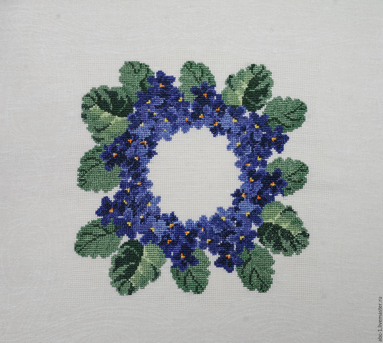 схема вышивка хрестиком цветочек