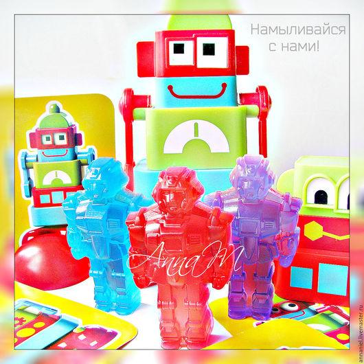 """Мыло ручной работы. Ярмарка Мастеров - ручная работа. Купить Детское мыло """"Трансформер"""". Handmade. Мыло, робот, детские подарки"""