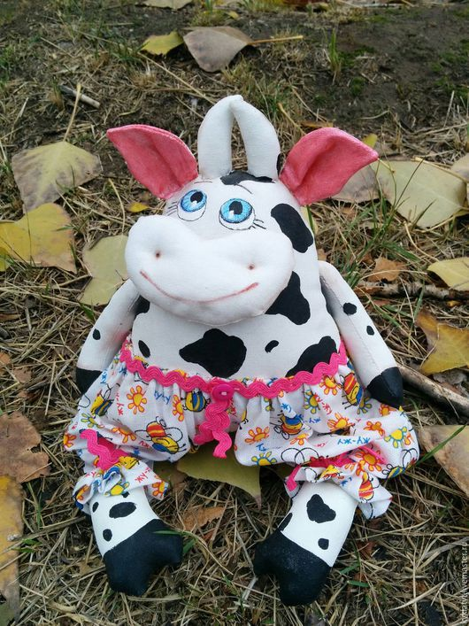 """Игрушки животные, ручной работы. Ярмарка Мастеров - ручная работа. Купить Интерьерная игрушка корова """"Глаша"""". Handmade. Комбинированный, коровка"""