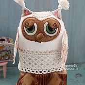 Мягкие игрушки ручной работы. Ярмарка Мастеров - ручная работа Совенок игрушка текстильная. Handmade.